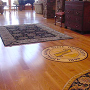 Prefinished oak entry with medallion, Boone, NC