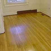 Original oak flooring after sanding and refinishing