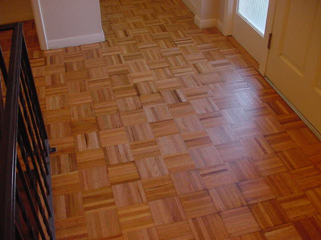 Repaired Parquet Floor After Refinishing