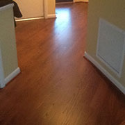 Same hardwood floor after refinishing