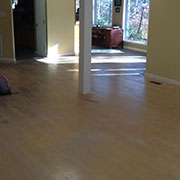 Poorly finished oak floor showing premature wear