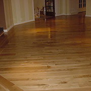 Prefinished hickory hardwood flooring with border, Boone, NC
